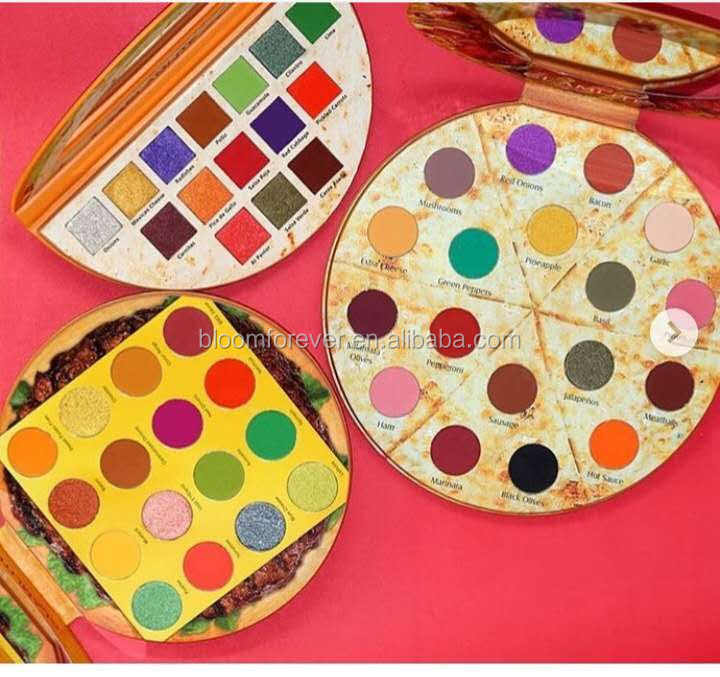 Pizza style Makeup Kit Private Label Eyeshadow Palette ,Best Eye Shadow multi colors