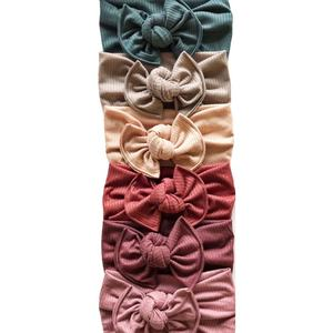 2019 winter design cable knit top knot headband for girls' hair accessories