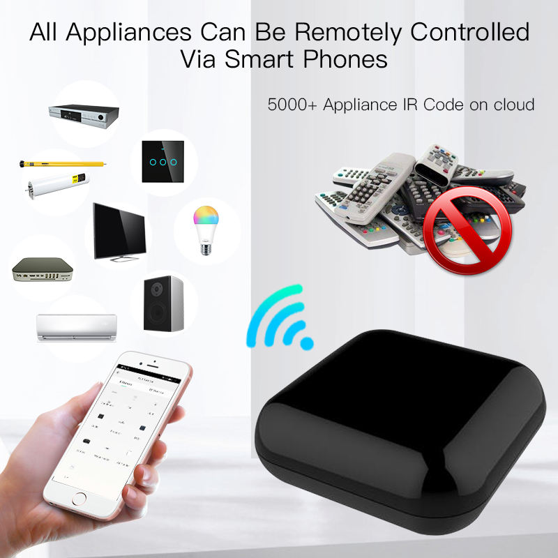 MOES RF+IR Remote Control WiFi Universal for TV, Air Conditioner, fan, infrared devices Tuya Smartlife APP, Alexa, google home