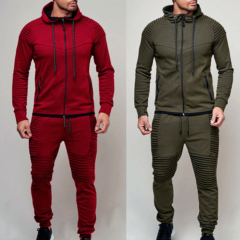 Newest Styler Sports Suit Men Side Stripe Jogging Suits Outdoor Tracksuits Hooded Hoodies And Pants Suit
