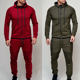 Sports Suit Suits Newest Styler Sports Suit Men Side Stripe Jogging Suits Outdoor Tracksuits Hooded Hoodies And Pants Suit