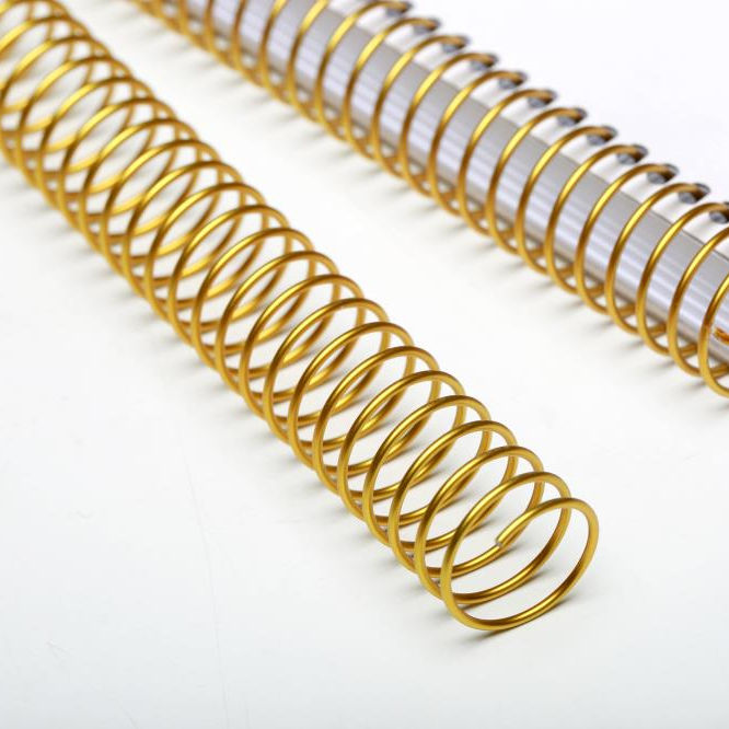 Various Size Eco-friendly and gold Color High Quality Metal Spiral Binding Coil Wire O