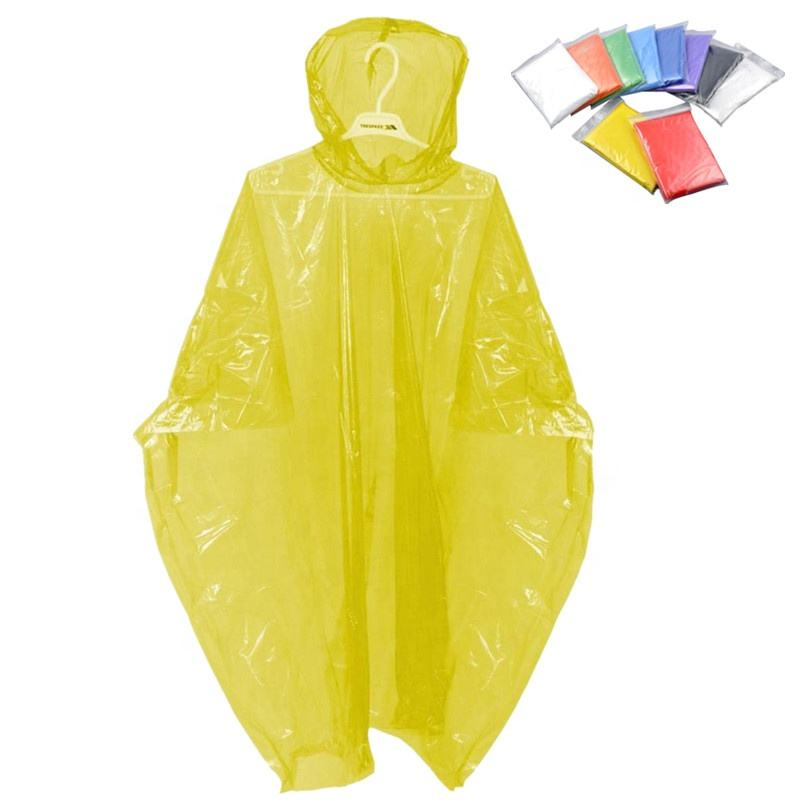 HOT SALE Disposable emergency PE rain poncho/rain coat/raincoat in ball