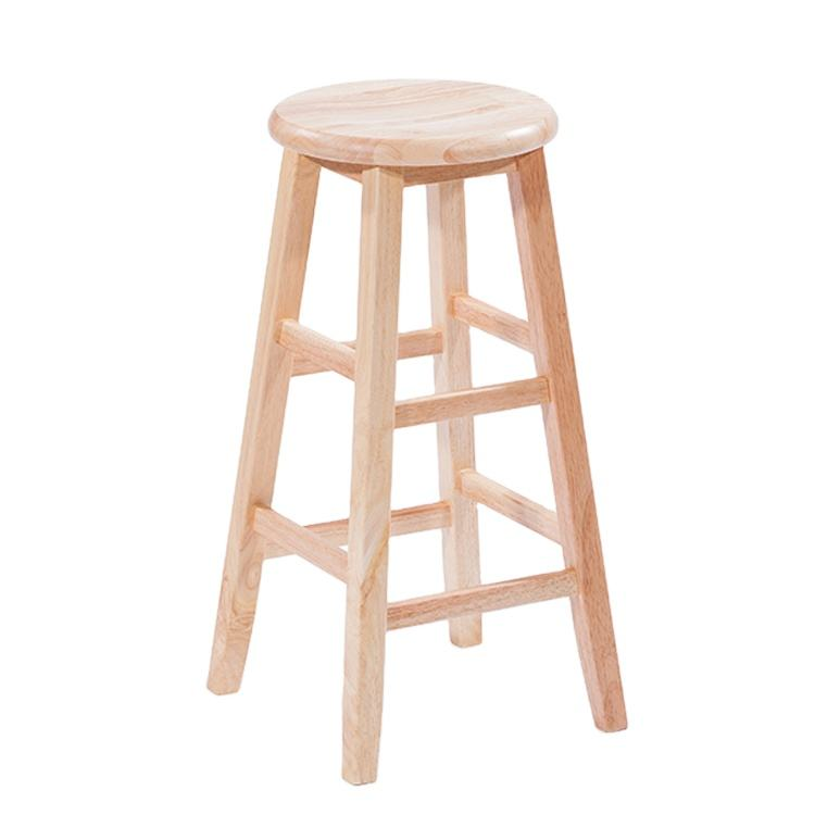 Designed concise and durable modern high wooden bar stool small wood step foot stool