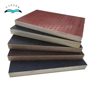 22mm anti-skid hardwood marine plywood price / BS1088 anti slip film faced plywood decking for boats / vessel / truck /trailer