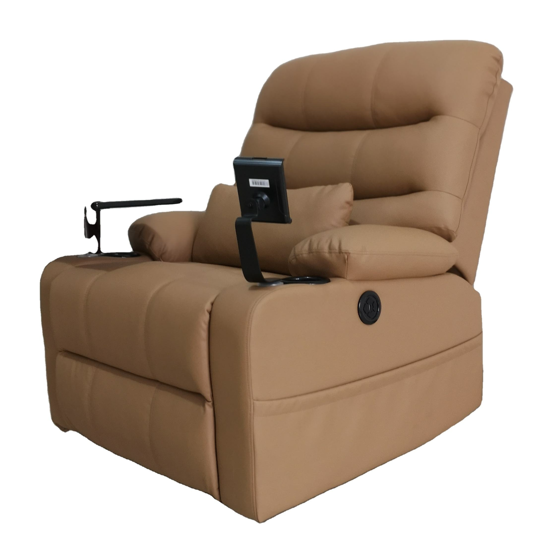 Popular sale adjustable oem/odm rocker for lazy boy relax style single real leather with headrest electric recliner sofa