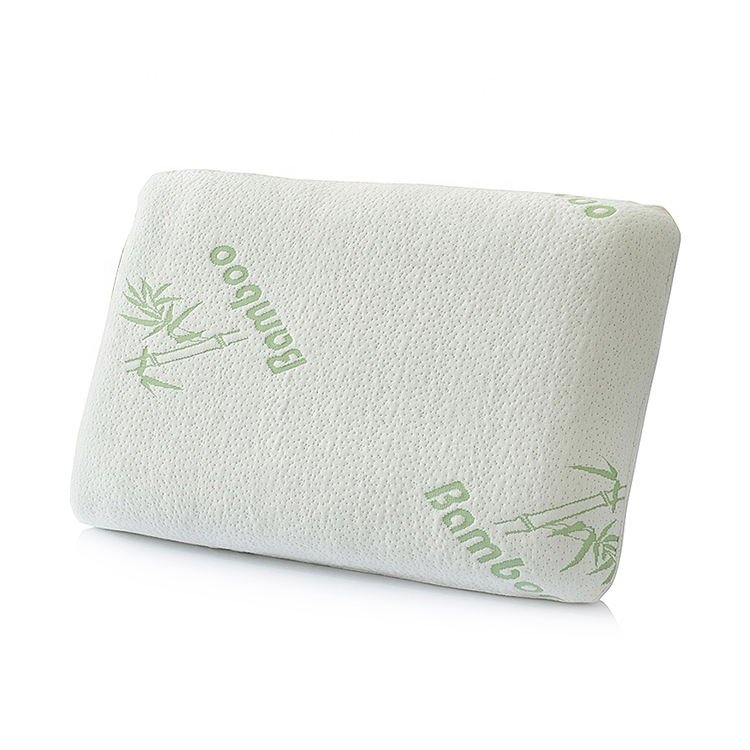 Factory supply rectangle bamboo fabric travel memory foam bed pillow