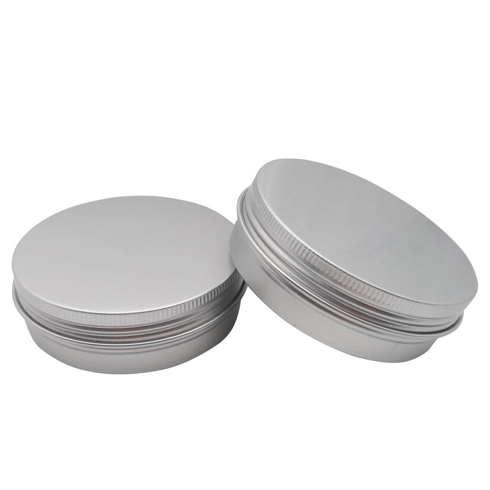 In Stock 15ml 30ml 50ml Wholesale Small Metal cosmetic Tin can packaging Round Box Empty Lip Balm Aluminum Cream Jar With Lid