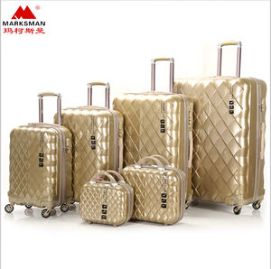 6pcs carry on luggage sets travel luggage bags good quality suitcase