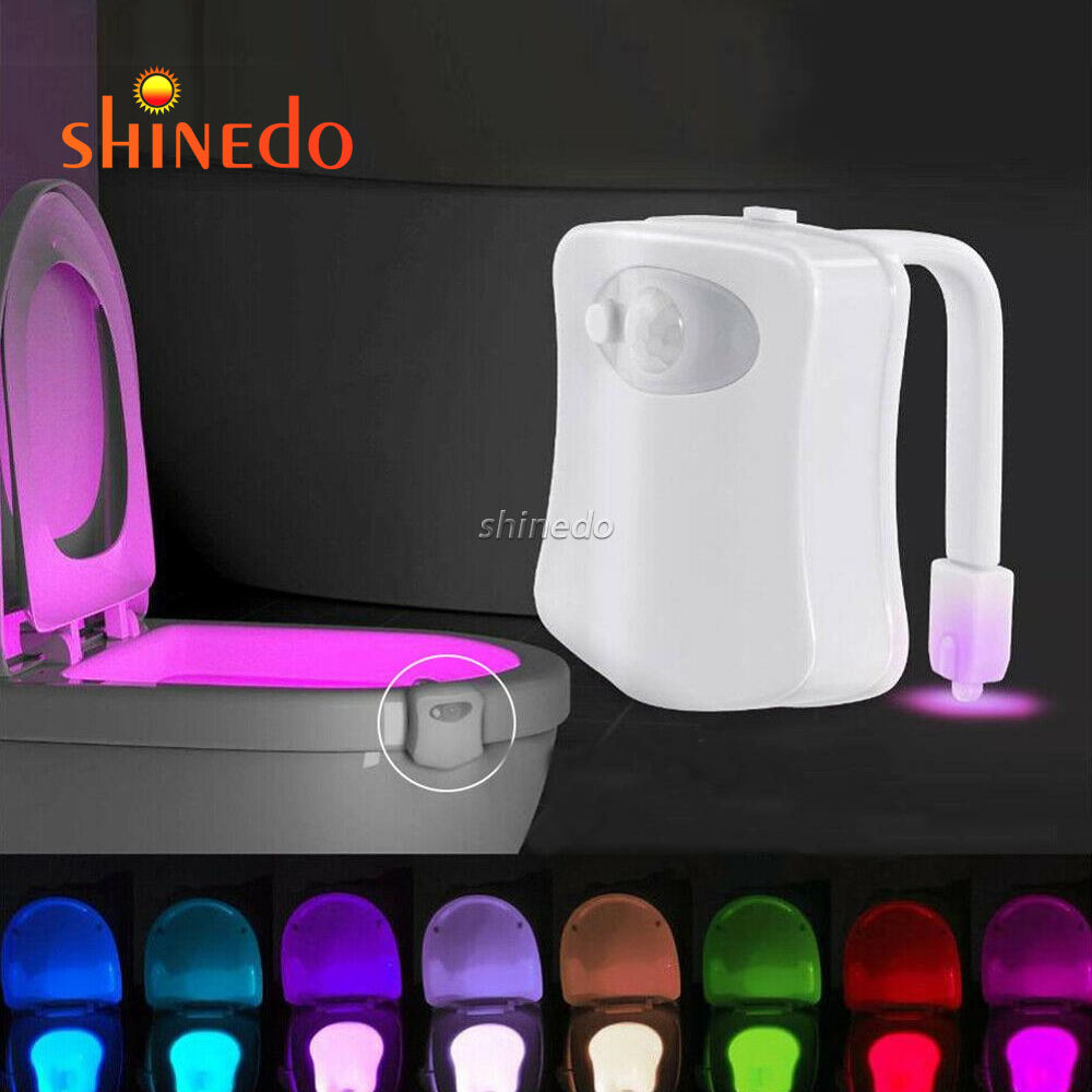 Hot Item 16 Colors Changing Led Sensor Toilet Bowl Light