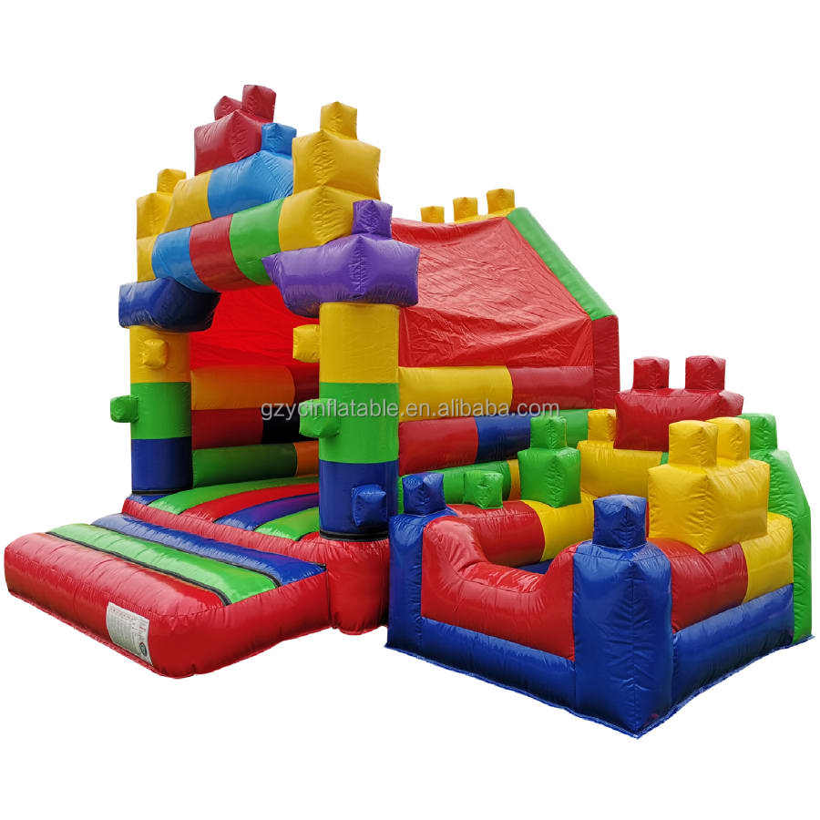 Commercial home use inflatable Blocks bouncer castle legoland inflatable cartoon bounce house for kids