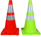 flexible green plastic warning road sign traffic safety cone