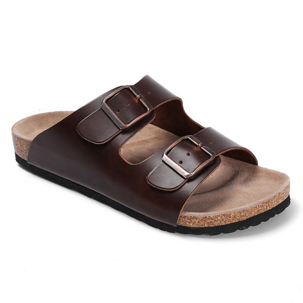 High Quality and Classic Durable Genuine Leather with Cork Clogging Foot-bed Bio Sandals For Women