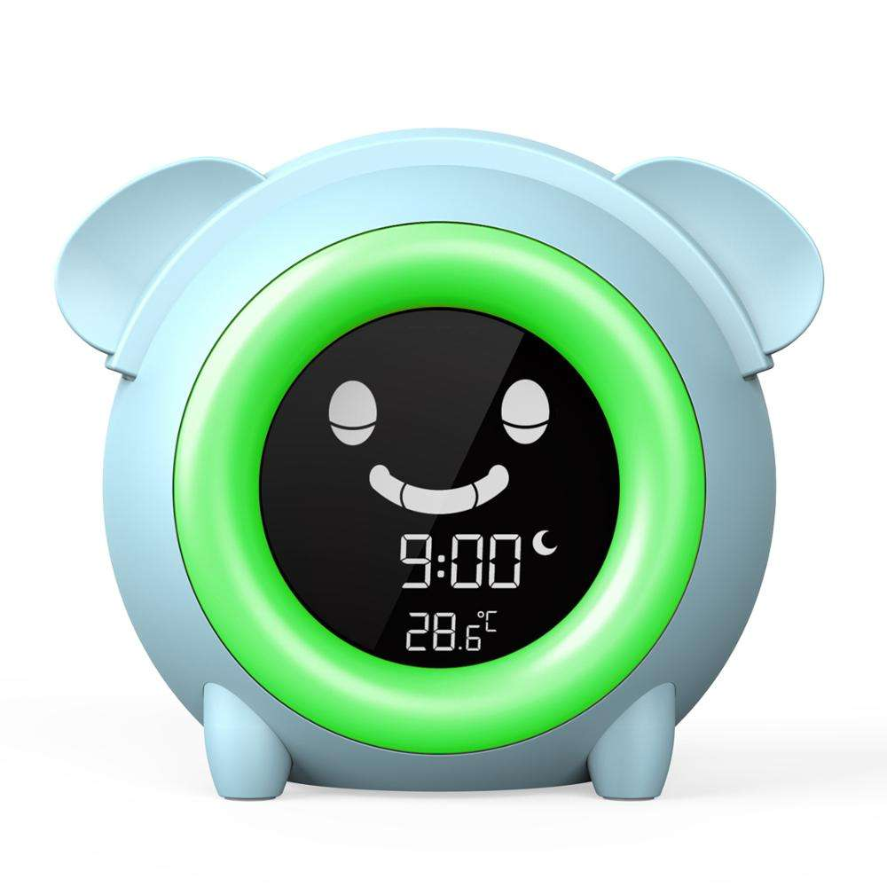 5 Changing Lighting Colors Toddlers Sleep Training Clock Digital Alarm Table Clock For Girls Boys