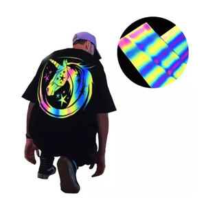 High Visibility PVC / PU / Glitter / Thermochromic Reflective Heat Transfer Vinyl For Clothing