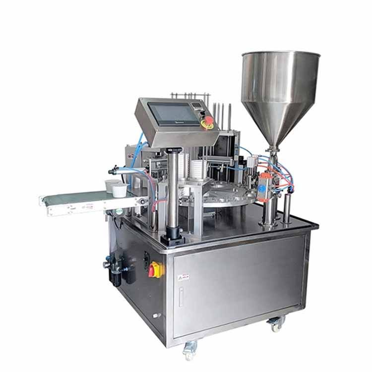 JYD Factory Price YT-300 Full Automatic Rotary Yogurt Coffee Mineral Water Small Bottle Paper Cup Filling And Sealing Machines