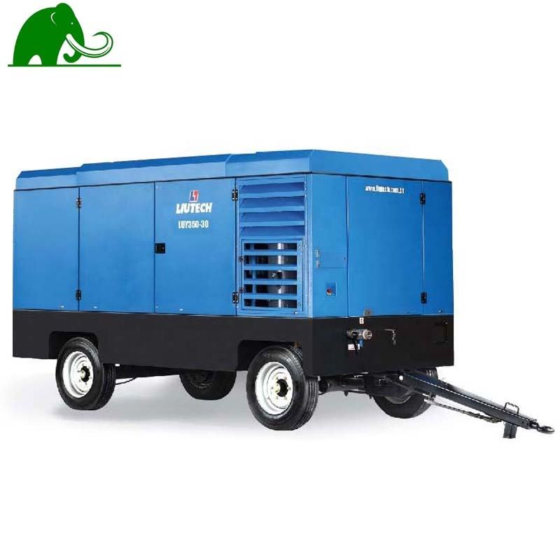 7 Bar Diesel Portable Mobile Screw Air Compressor for Construction Works