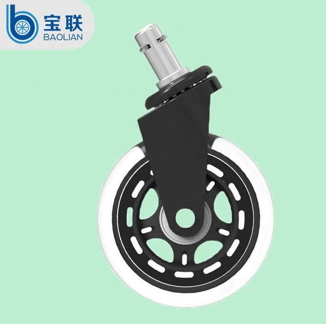 Replacement Factory Universal 3 /2.5/2 inch rollerblade transparent PU rubber furniture office chair wheels caster