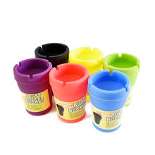 wholesale cheep luminous plastic ashtray for car cup holder that glow in the dark