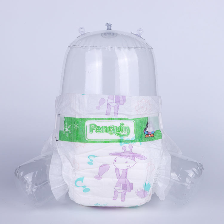 Wholesale Absorbent Quality B Grade Fluff Pulp Baby DiaperPrice With Pp Tape