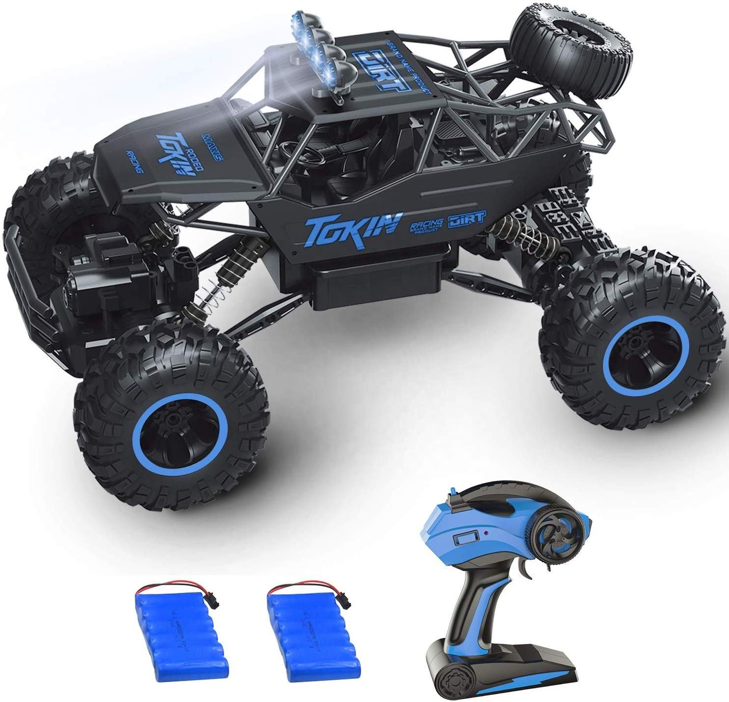 Flytec 8860 1/12 Scale High Speed Racing RC Cars 2.4GHZ 4WD OffオフロードVehicleとCar 2 Rechargeable BatteryためKidsとAdults