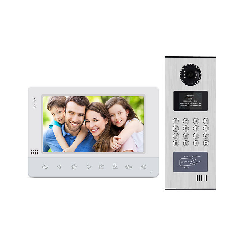 smart 2wire BUS multi apartments building doorbell video door phone for home system to work with smartphone