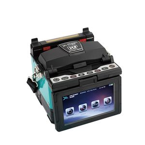 Optical fiber auto splicing fusion splicer with core alignment for FTTH network of single fiber with toolkt equipment machine