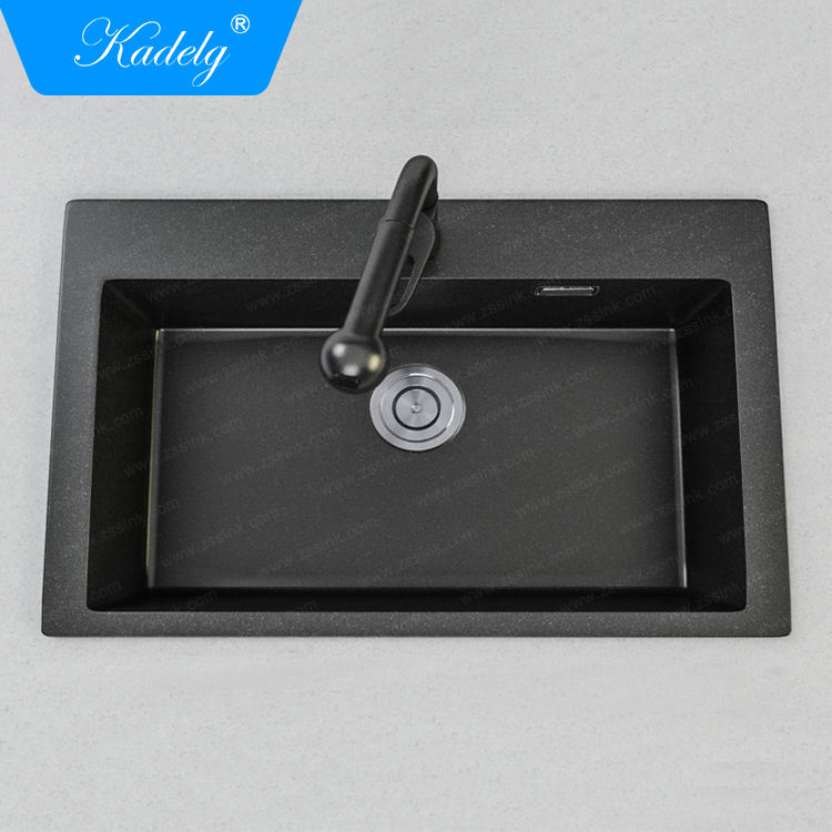 28 inch Black Single Bowl Undermount Granite Kitchen Sink
