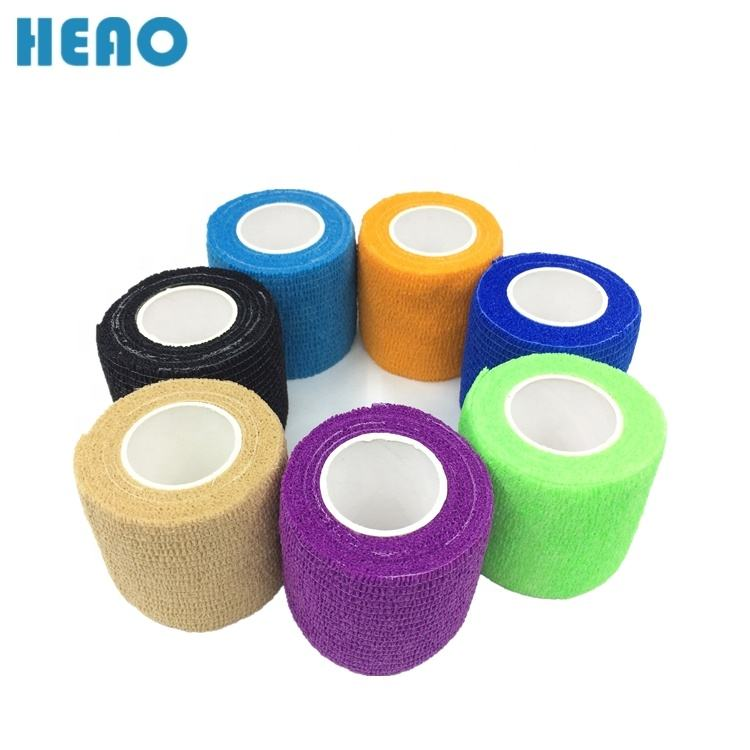 7.5cm *4.5m colorful non-woven self-adhesive cohesive elastic flexible bandages