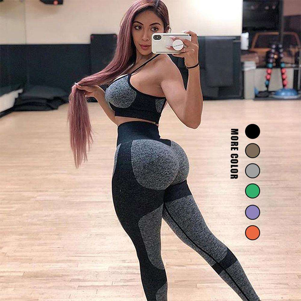 Softy High Rise Wide Waistband Hole Seamless Leggings For Women Yoga Pants