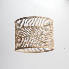 High quality handmade   bamboo lampshade  Home decor wicker   antique Chinese lamp shade for ceiling