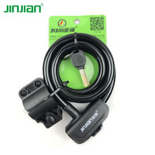 12x1200mm security spiral wire candy color cable lock for  bicycle