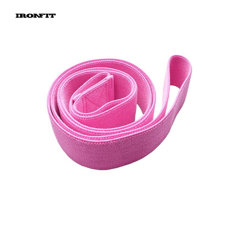 2080mm Length 3 Levels Custom Logo Pink Pull Up Long Fabric Resistance Bands