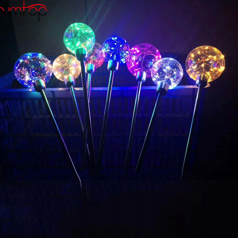 Factory 12V 80cm Copper wire led star night circle high multi color Christmas Halloween street light decoration