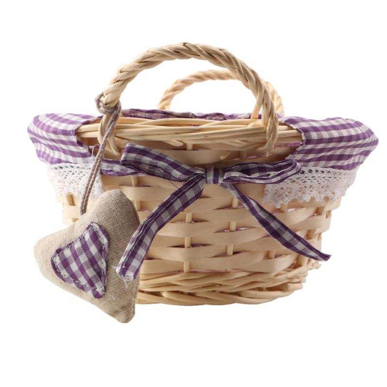 New Products Indoor Wicker Felt Storage Basket Wicker <span class=keywords><strong>Container</strong></span> Basket Stand