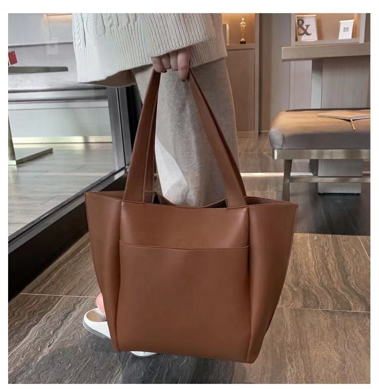 2021 hot sale china Large Capacity Tote Shoulder Bag Ladies Pu Leather Fashions women Handbag supplier
