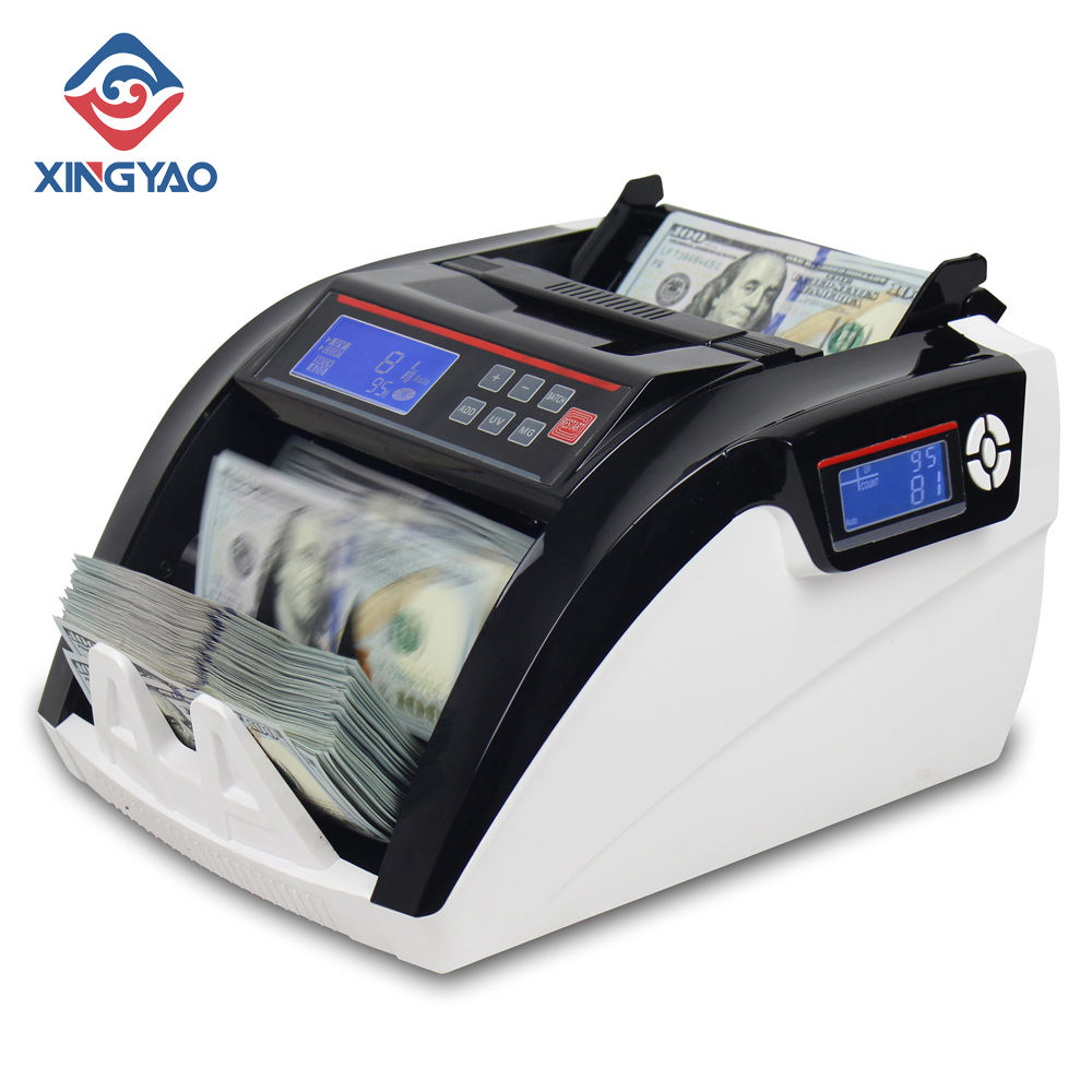 Fake Money Detector Banknote Money Counter 5800D UV/MG detector de billete falso LCD Display Note Counting Machine