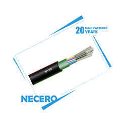 Necero 20 years fibre optic equipment OEM manufacturer 144 72 36 24 18 12 core GYTS outdoor underground fiber optical cable