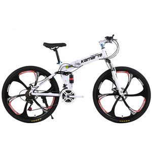 26-inch Foldable Aluminum Alloy Frame Road Bicycle Mountain Bike Magnesium Alloy Integrated 6 Spoke Wheels 21 Speeds