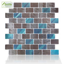 Funlife Eco-friendly Waterproof 31.3x31cm Diy Grey Marble 3D Texture Epoxy Wall Tiles Sticker for Kitchen and Bathroom DJ005XH