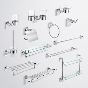 T Series Modern European Style 304 Stainless Steel Bathroom Accessories Set