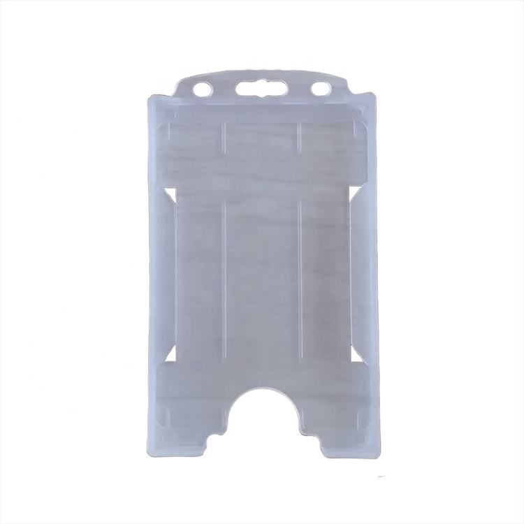 Vertical Plastic Employee Card ID Name Badge Holder