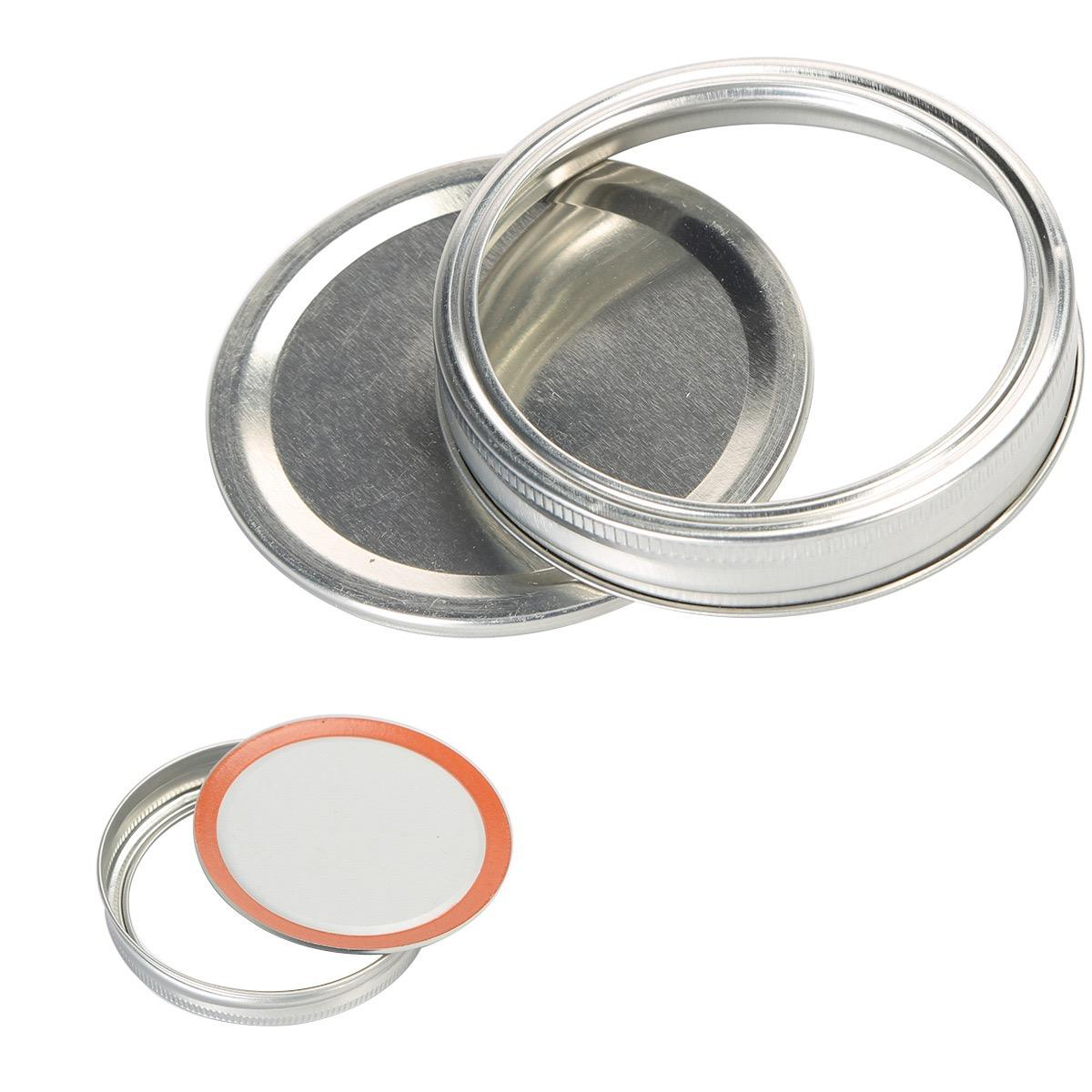 Mason Canning Covers Leak Proof Sealing Food Keeping Fresh Mason Canning Jar Lids With Wide Mouth Kitchen Supplies