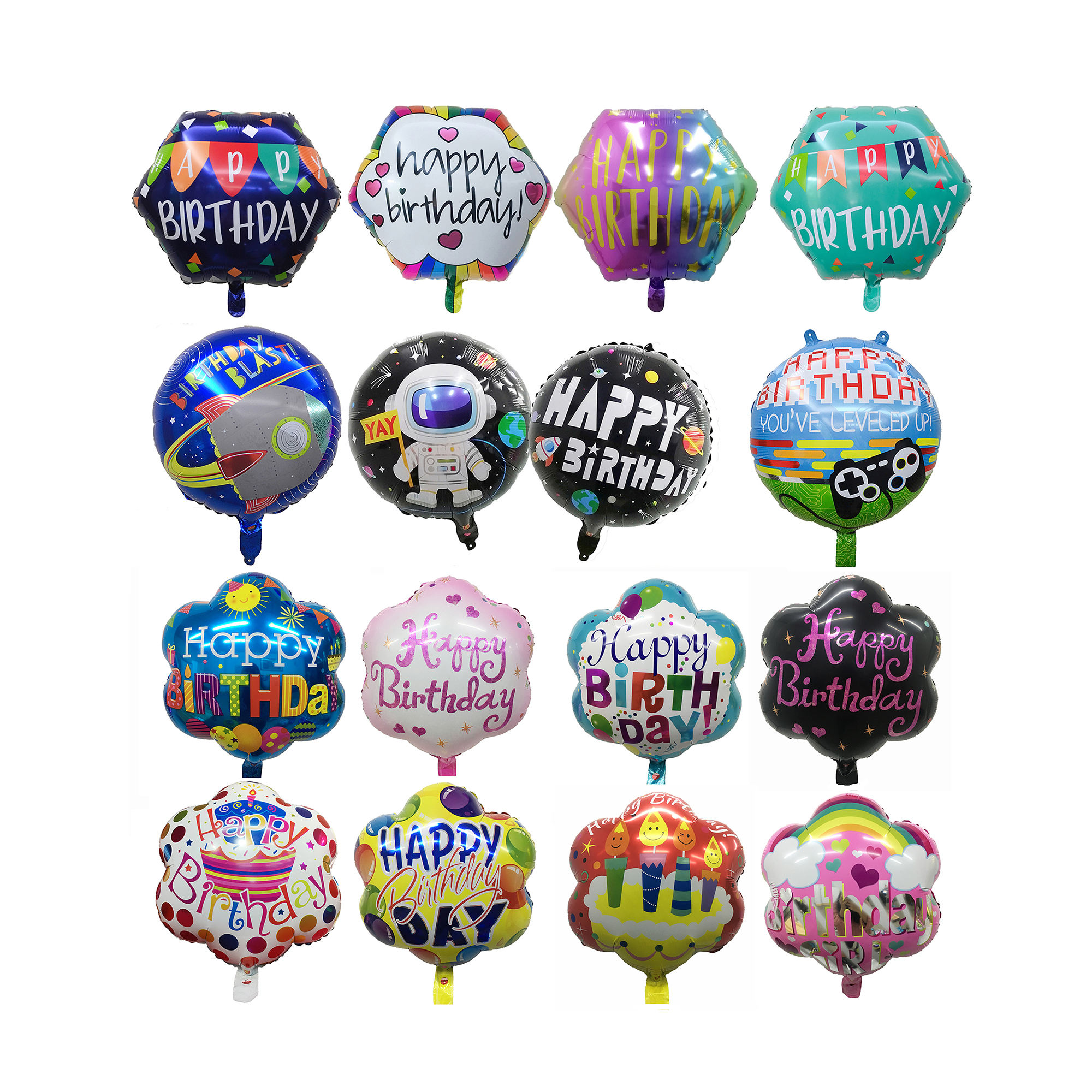 For Balloon Adult Men Women Happy Party Decorations Decals Walls Birthday Ballons