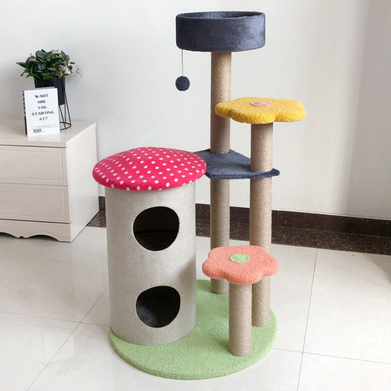 Punk 2012 Natural Sisal Natural Luxury Scratching 3-layer Wooden Cat Tree Four Seasons Available Space capsule cat tree