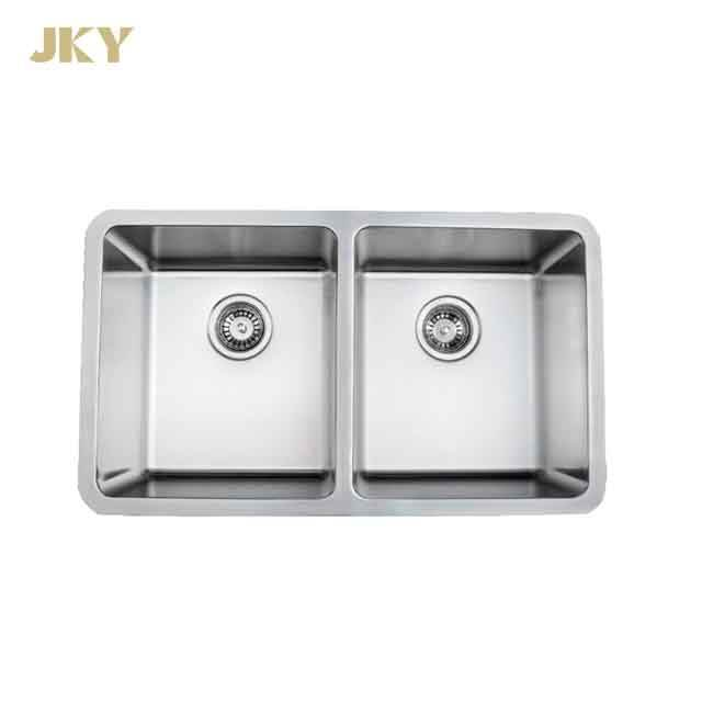 18 Gauge Double Bowl Undermount Stainless Steel Kitchen Sink