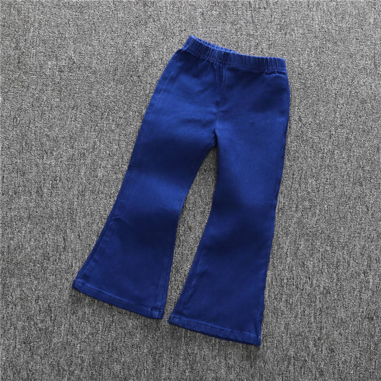 2020 spring girls baby soft denim horn pants children wide leg jeans clothes baby girl jean new design trousers