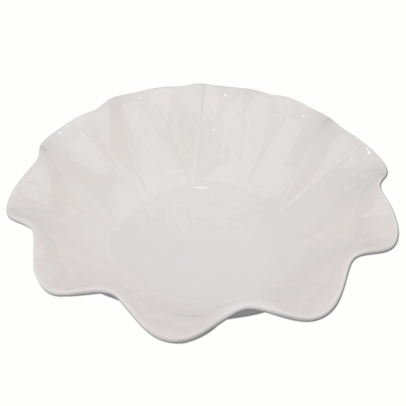 Super White Porcelain Snow Lotus Petal Flower Bowl Ceramic Soup Bowl Salad bowl