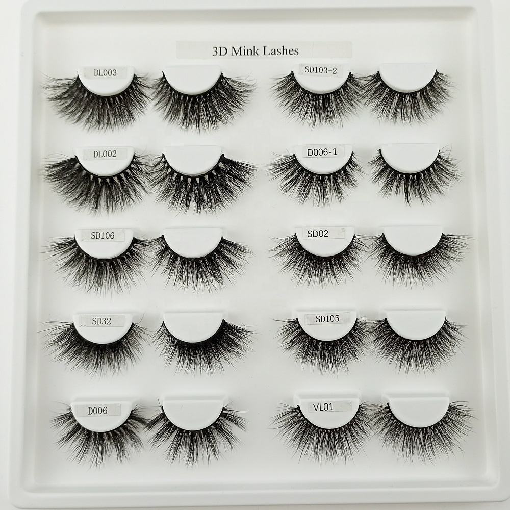 mink eyelash vendor 3D 5D wholesale privade label with custom packing wispy siberian mink eyelashes