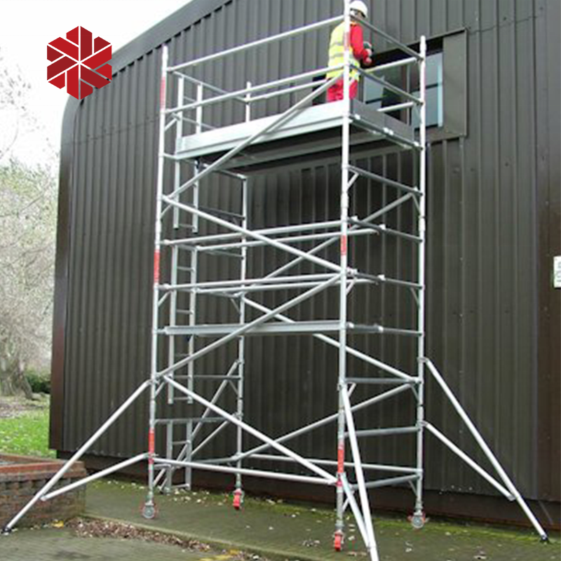 Complete system 6m 12m mobile scaffold tower ladder aluminium rolling scaffolding construction price bricky wall building tool